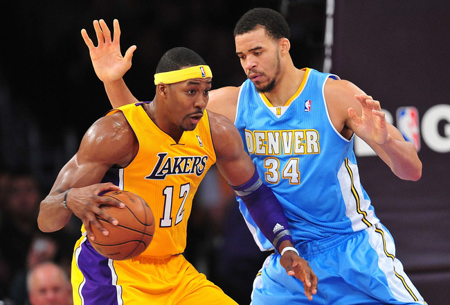 lakers nuggets dwight mcgee