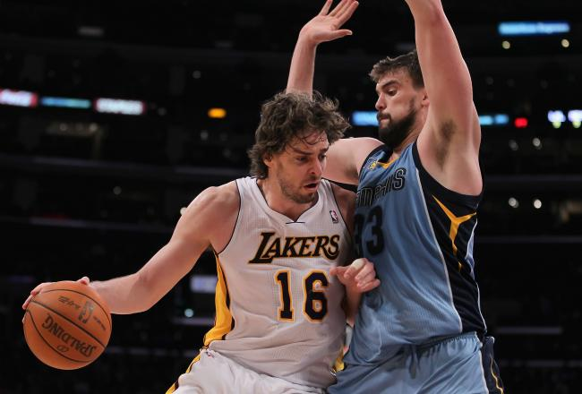lakers grizzlies gasol v gasol