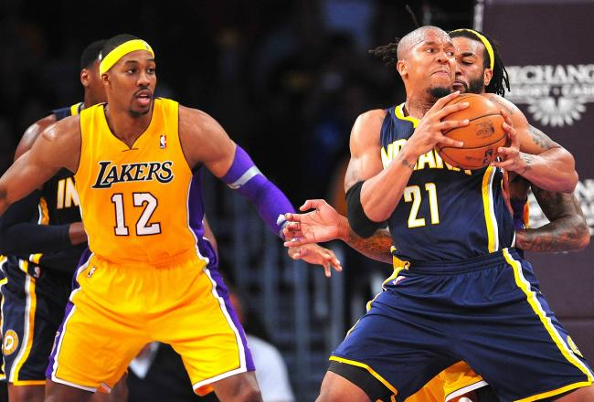 lakers pacers howard west