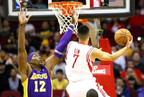lakers rockets lin dwight