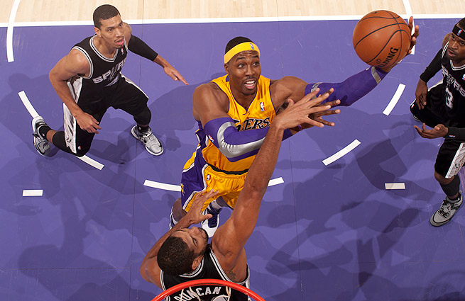 dwight howard tim duncan los angeles lakers san antonio spurs first round series