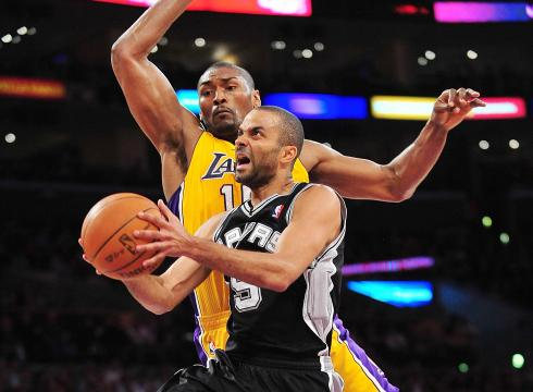 San Antonio Spurs at Los Angeles Lakers 1st round series schedule