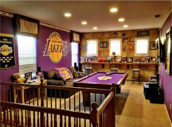 awesome lakers man caves gallary of the fernandez s los angeles lakers basketball bedding set ebeddingsets
